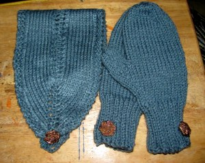 headband-mittens set