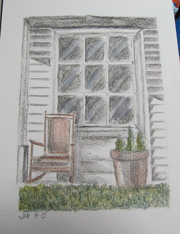 country door drawing