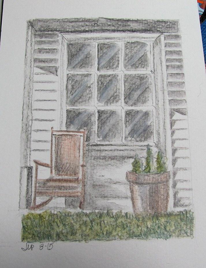 country door drawing