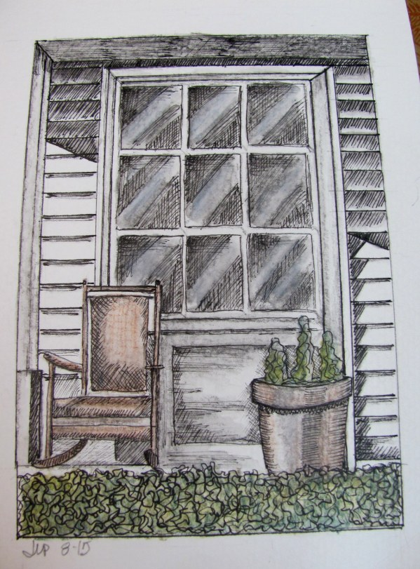 country door with ink