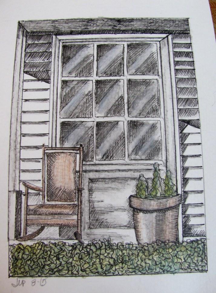 country door with ink