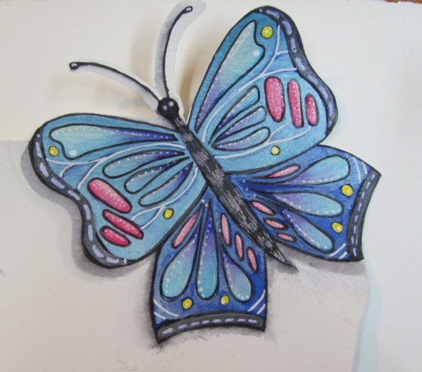 watercolor butterfly 1