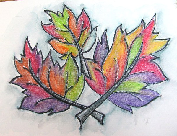 fall leaves pastels