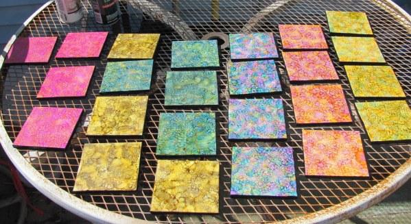 inked coasters